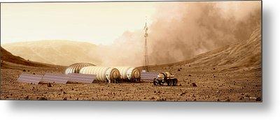 Mars Dust Storm Metal Print by Bryan Versteeg
