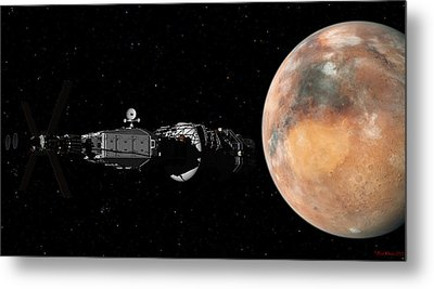 Mars Insertion A Different View Metal Print by David Robinson