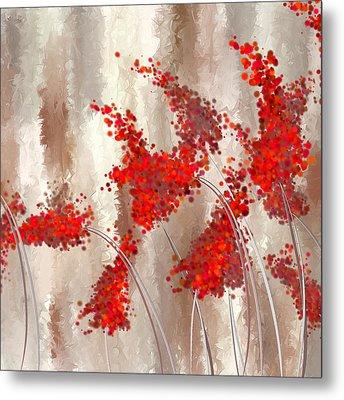Marsala Abstract Metal Print