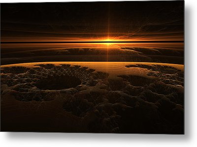 Marscape Metal Print by GJ Blackman