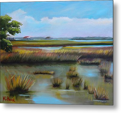 Marsh At Yellow Bluff Metal Print by Karen Macek
