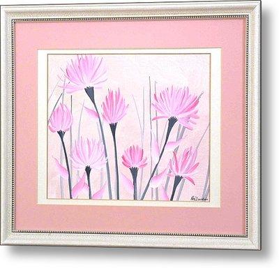 Marsh Flowers Metal Print