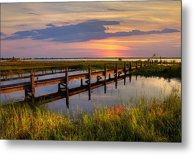Marsh Harbor Metal Print