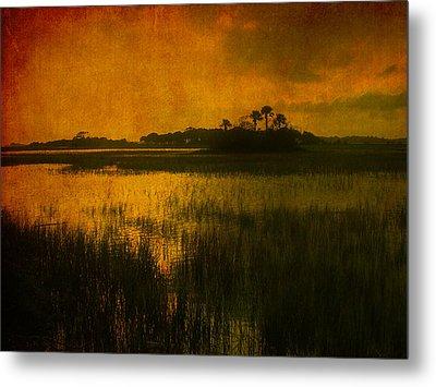 Marsh Island Sunset Metal Print by Susanne Van Hulst