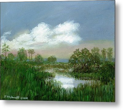 Marsh Sketch Metal Print