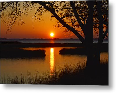 Metal Print featuring the photograph Ocean City Sunset At Old Landing Road by Bill Swartwout