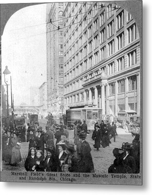 Marshall Fields Great Store Metal Print by Everett