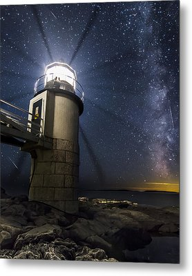 Marshall Lighthouse And The Night Sky Metal Print