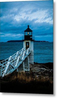 Marshall Point Light At Dusk 1 Metal Print