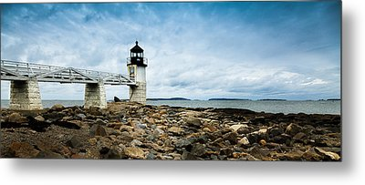 Marshall Point Lighthouse Panoramic Metal Print by David Smith