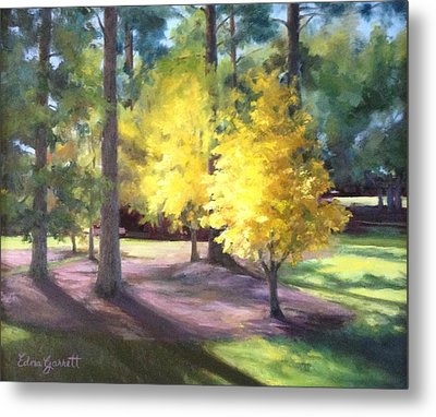 Marshallville Landscape With Yellow Trees Metal Print
