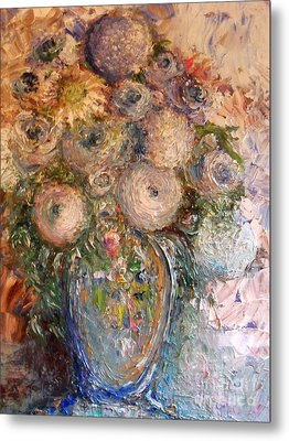 Marshmallow Flowers Metal Print by Laurie L
