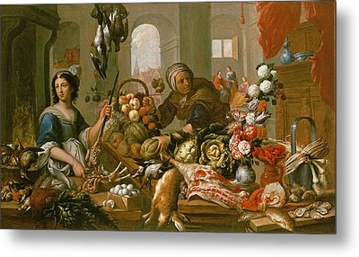 Martha And Mary Metal Print by Frans Ykens