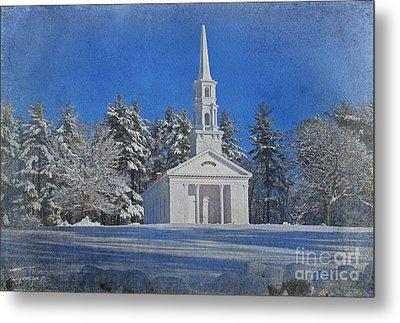 Martha Mary Chapel In Winter Metal Print by Jayne Carney