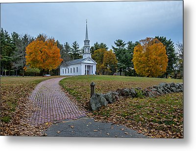 Martha-mary Chapel Sudbury Ma Metal Print by Wayne Collamore