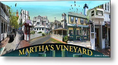 Martha's Vineyard Collage Metal Print by Gerry Robins