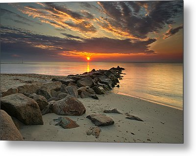 Marthas Vineyard Sunrise Metal Print by Darylann Leonard Photography