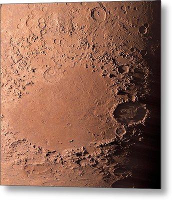 Martian Impact Basin Metal Print