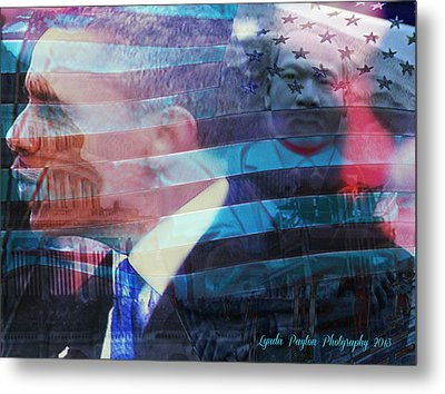 Martin And Obama Metal Print by Lynda Payton