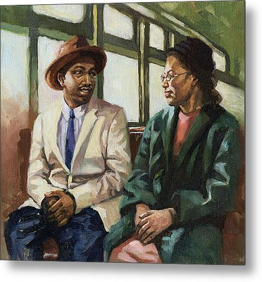 Martin And Rosa Up Front Metal Print by Colin Bootman