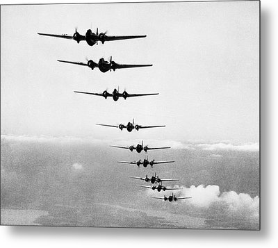 Martin B-10s In Formation Metal Print by Underwood Archives