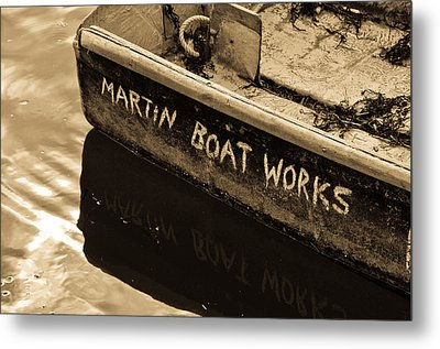Martin Boat Works Metal Print by Mike Martin