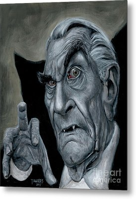 Martin Landau As Bela Metal Print by Mark Tavares