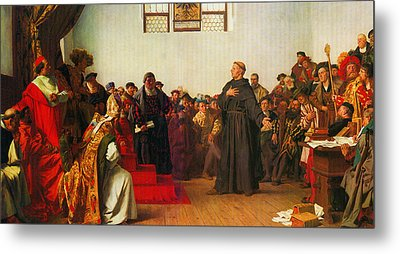 Martin Luther Before The Diet Of Worms Metal Print