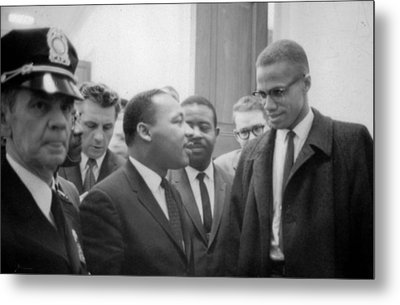 Martin Luther King Jnr 1929-1968 And Malcolm X Malcolm Little - 1925-1965 Metal Print