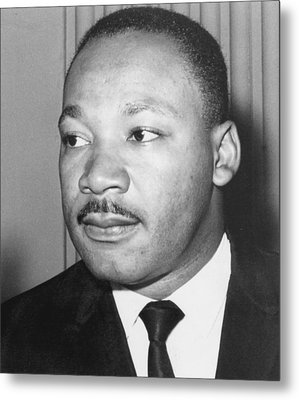Martin Luther King Jr 1929-68 American Black Civil Rights Campaigner Metal Print by Anonymous