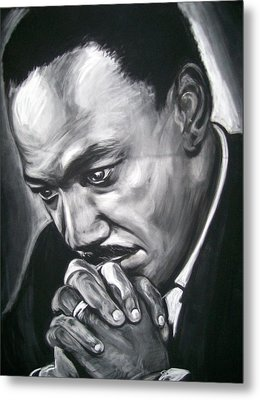 Martin Luther King Jr Metal Print by Martha Suhocke