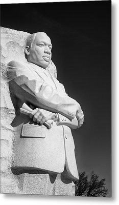 Martin Luther King Jr. Statue Metal Print by Celso Diniz