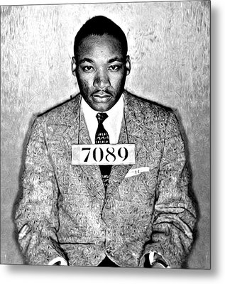 Martin Luther King Mugshot Metal Print by Bill Cannon