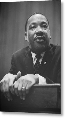 Martin Luther King Press Conference 1964 Metal Print