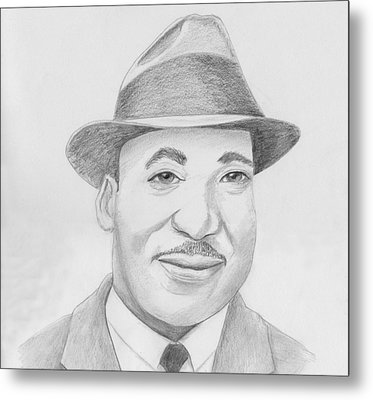 Martin Luther King Sketch Metal Print