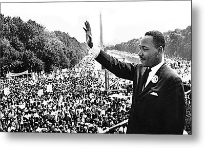 Martin Luther King The Great March On Washington Lincoln Memorial August 28 1963-2014 Metal Print by David Lee Guss