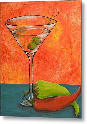 Martini And Pepper Metal Print