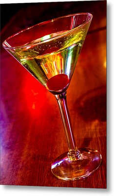 Martini At The Local Pub Metal Print