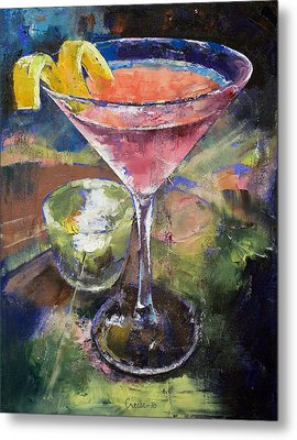 Martini Metal Print by Michael Creese