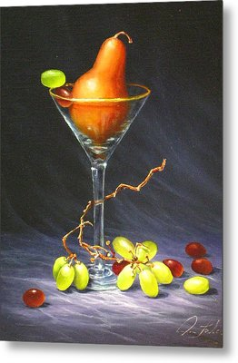 Martini Metal Print by Sean Taber