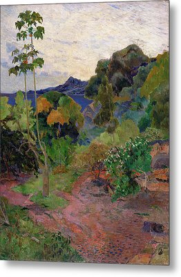 Martinique Landscape, 1887 Oil On Canvas Metal Print
