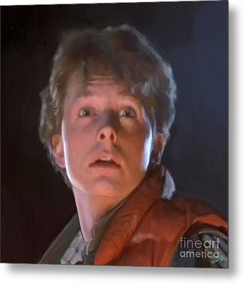 Marty Mcfly Metal Print by Paul Tagliamonte