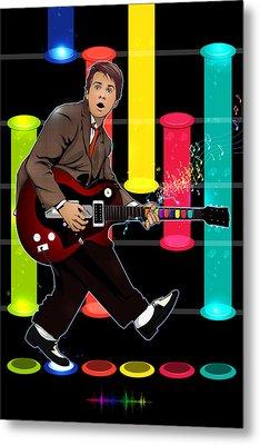 Marty Mcfly Plays Guitar Hero Metal Print by Akyanyme
