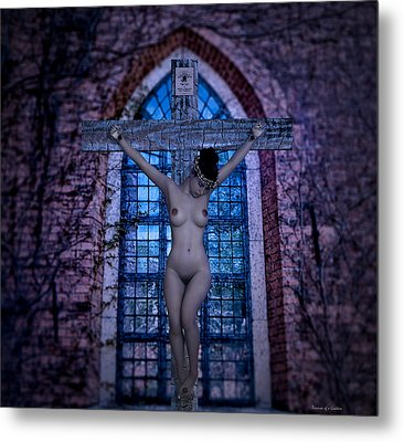 Martyr Of The Church V Metal Print by Ramon Martinez