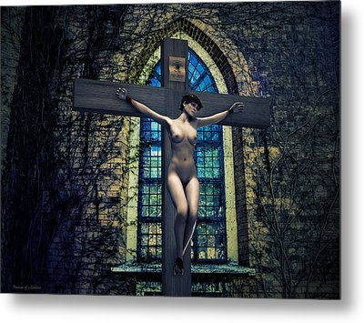 Martyr Of The Curch II Metal Print by Ramon Martinez