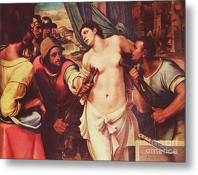 Martyrdom Of St Agatha Metal Print by Pg Reproductions
