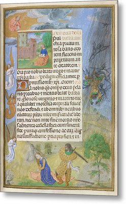 Martyrdom Of St Barbara Metal Print by British Library