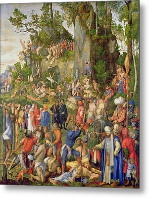 Martyrdom Of The Ten Thousand, 1508 Metal Print by Albrecht Durer or Duerer