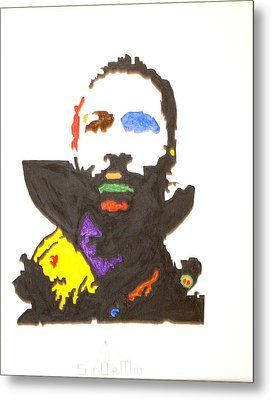 Metal Print featuring the painting Marvin Gaye by Stormm Bradshaw