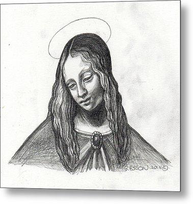 Mary After Davinci Metal Print